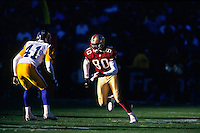 SAN FRANCISCO, CA - Jerry Rice of the San Francisco 49ers in action during a game against the St. Louis Rams at Candlestick Park in San Francisco, California in 1999. Photo by Brad Mangin