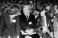 Congres du Parti Quebecois au Patro Roc-Amadour a Quebec , le 26 février 1971 -  Pierre Bourgault<br /> <br /> Photographe : Jacques Thibault<br /> - Agence Quebec Presse