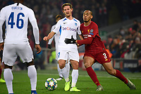 LIVERPOOL, GREAT BRITAN - NOVEMBER 5 : Fabinho midfielder of Liverpool battles for the ball with Patrik Hrosovsky midfielder of Genk during the UEFA Champions League match between Liverpool FC and KRC Genk on November 05, 2019 in Liverpool, Great Britan, 5/11/2019 <br /> Liverpool 5-11-2019 Anfield <br /> Liverpool - Genk <br /> Champions League 2019/2020<br /> Foto Photonews / Panoramic / Insidefoto <br /> Italy Only