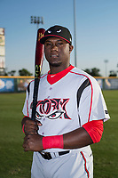 Lake Elsinore Storm outfielder Jorge Ona (13) poses for a photo before a California League game against the Modesto Nuts at John Thurman Field on May 11, 2018 in Modesto, California. (Zachary Lucy/Four Seam Images)