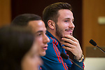 Saul Niguez during Spain press conference a few days before soccer match between Spain and Argentina in Madrid , Spain. March 24, 2018. (ALTERPHOTOS/Borja B.Hojas)