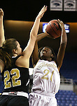 Spring Valley's Alana Walker shoots over Faith Lutheran's Emily Kirvin during the NIAA Division I-A state basketball championship in Reno, Nev. on Saturday, Feb. 27, 2016. Faith Lutheran won 50-47. Cathleen Allison/Las Vegas Review-Journal