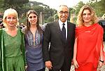 SANDRA, ALBERTINA E FRANCO CARRARO CON MARTINA MONDADORI