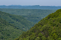 West Virginia. Appalachian View looking Northwest from Babcock State Park.