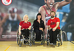 FEBRUARY 26, 2016, TORONTO, ON; Team Canada Chef de Mission for the 2016 Paralympic Team, Chantal Petitclerc vists Toronto Pan Am Sports Centre to support local<br /> Rio 2016 wheelchair basketball hopefuls Melanie Hawtin and Bo Hedges.<br /> Photo credit Dan Galbraith / Canadian Paralympic Committee