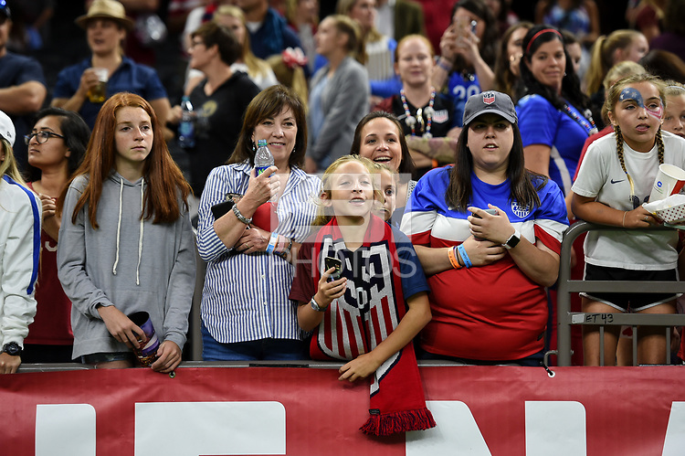 New Orleans, LA - Thursday October 19, 2017: USA fans during an International friendly match between the Women's National teams of the United States (USA) and South Korea (KOR) at Mercedes Benz Superdome.