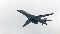 Boeing B-1B Lancer at the Farnborough International Airshow .