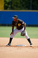 Pittsburgh Pirates second baseman Rodolfo Castro (32) during a Florida Instructional League game against the Toronto Blue Jays on September 20, 2018 at the Englebert Complex in Dunedin, Florida.  (Mike Janes/Four Seam Images)