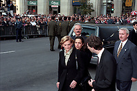 FILE PHOTO -  Francois Bourassa and his mother attend Robert Bourassa Funerals at Notre-Dame Basilica, October 20, 1996.<br /> <br /> PHOTO : Agence quebec Presse