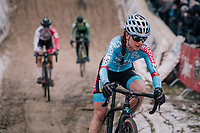 "2018/2019 CX sensation Denise Betsema (NED/Marlux-Bingoal) in the infamous ""Pit"" <br /> <br /> women's race<br /> Superprestige Zonhoven (BEL) 2018"