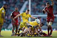 22nd May 2021; Twickenham, London, England; European Rugby Champions Cup Final, La Rochelle versus Toulouse;Tawera Kerr Barlow of La Rochelle clears the ball