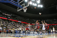 18 March 2006: Jillian Harmon and Brooke Smith during Stanford's 72-45 win over Southeast Missouri State in the first round of the NCAA Women's Basketball championships at the Pepsi Center in Denver, CO.