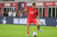 WASHINGTON, D.C. - OCTOBER 11: Daniel Lovitz #5 of the United States warming up during their Nations League match versus Cuba at Audi Field, on October 11, 2019 in Washington D.C.