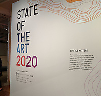 Introductory panel to the State of the Art 2020 exhibition in Gallery 1 Friday Feb. 21, 2020 at the Momentary in Bentonville. (NWA Democrat-Gazette/JOCELYN MURPHY)