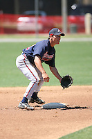 March 21st 2008:  Cole Miles of the Atlanta Braves minor league system during Spring Training at Tiger Town in Lakeland, FL.  Photo by:  Mike Janes/Four Seam Images