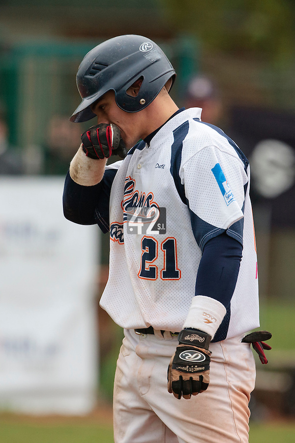 17 October 2010: Yann Dal Zotto of Savigny looks dejected during Rouen 10-5 win over Savigny, during game 2 of the French championship finals, in Savigny sur Orge, France.