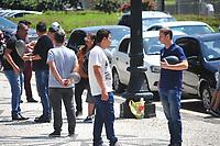 CURITIBA, PR, 27.01.2020 Manifestacao Motoristas de APPs-  Motoristas de aplicativos na cidade de Curitiba fazem manifestações na prefeitura, apos o mesmo exigir cadastro nessa segunda(27).fotos ( Ernani Ogata)