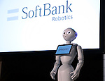 July 20, 2016, Tokyo, Japan - Softbank's humanoid robot Pepper is displayed at a press preview of the Pepper World exhibition in Tokyo on Wednesday, July 20, 2016. Pepper's latest applications and accessories will be exhibited at the Pepper World robot exhibition on July 21 and 22.      (Photo by Yoshio Tsunoda/AFLO)