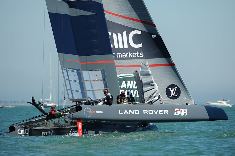 Land Rover BAR, JULY 23, 2016 - Sailing: Land Rover BAR during day one of the Louis Vuitton America's Cup World Series racing, Portsmouth, United Kingdom. (Photo by Rob Munro/Stewart Communications)