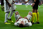 Real Madrid Sergio Ramos during Santiago Bernabeu Trophy match at Santiago Bernabeu Stadium in Madrid, Spain. August 11, 2018. (ALTERPHOTOS/Borja B.Hojas)