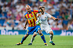 Simone Zaza of Valencia CF in action during their La Liga 2017-18 match between Real Madrid and Valencia CF at the Estadio Santiago Bernabeu on 27 August 2017 in Madrid, Spain. Photo by Diego Gonzalez / Power Sport Images