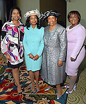 Marsha Penn, Rose Austin, Charlotte Bryant and Pat Roberts at the Ivy Foundation luncheon and fashion show at the Hilton Americas Hotel downtown Saturday March 01,2008.(Dave Rossman/For the Chronicle)