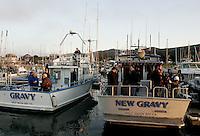 Gravy and New Gravy Boats. Mavericks Surf Contest in Half Moon Bay, California on February 13th, 2010.