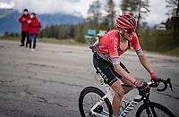 Warren Barguil (FRA/Arkéa Samsic) up the climb towards La Plagne (HC/2072m/17.1km@7.5%) <br /> <br /> 73rd Critérium du Dauphiné 2021 (2.UWT)<br /> Stage 7 from Saint-Martin-le-Vinoux to La Plagne (171km)<br /> <br /> ©kramon