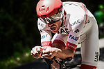 Alexander Kristoff (NOR) UAE Team Emirates in action during Stage 13 of the 2019 Tour de France an individual time trial running 27.2km from Pau to Pau, France. 19th July 2019.<br /> Picture: ASO/Pauline Ballet | Cyclefile<br /> All photos usage must carry mandatory copyright credit (© Cyclefile | ASO/Pauline Ballet)
