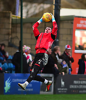 Lincoln City's Grant Smith during the pre-match warm-up<br /> <br /> Photographer Andrew Vaughan/CameraSport<br /> <br /> The EFL Sky Bet League Two - Lincoln City v Newport County - Saturday 22nd December 201 - Sincil Bank - Lincoln<br /> <br /> World Copyright © 2018 CameraSport. All rights reserved. 43 Linden Ave. Countesthorpe. Leicester. England. LE8 5PG - Tel: +44 (0) 116 277 4147 - admin@camerasport.com - www.camerasport.com