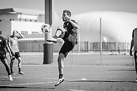 BRADENTON, FL - JANUARY 21: Sebastian Lletget traps a ball during a training session at IMG Academy on January 21, 2021 in Bradenton, Florida.
