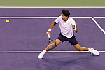 March 15, 2018: Hyeon Chung (KOR) defeated by Roger Federer (SUI) 7-5, 6-1 in Wells Tennis Garden in Indian Wells, California. ©Mal Taam/TennisClix/CSM