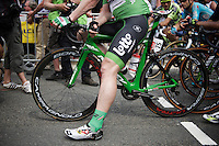 'green' André Greipel (DEU/Lotto-Soudal) at the start<br /> <br /> stage 4: Seraing (BEL) - Cambrai (FR) <br /> 2015 Tour de France