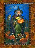 Liz,STILL LIFE STILLEBEN, NATURALEZA MORTA, LizDillon, paintings+++++,USHCLD0159,#I#, EVERYDAY ,halloween witch