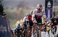 Zdenek Stybar (CZE/Quick-Step Floors) in the first ascent up the Paterberg<br /> <br /> 102nd Ronde van Vlaanderen 2018 (1.UWT)<br /> Antwerpen - Oudenaarde (BEL): 265km