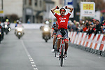 Jarlinson Pantano (COL) Trek-Segafredo wins Stage 5 of the 98th Edition of Volta Ciclista a Catalunya 2018, running 219.9km from Llivia to Vielha Val d'Aran. 23rd March 2018.<br /> Picture: Luis Angel Gomez/BettiniPhoto | Cyclefile<br /> <br /> <br /> All photos usage must carry mandatory copyright credit (© Cyclefile | Luis Angel Gomez/BettiniPhoto)