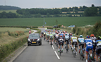 Rider safety (against upcoming traffic) wasn't at the level it should be today. Many times cars were entering the race echelon and in this case even against peloton direction: luckily all drove by safely ...in this case.<br /> <br /> stage 3: Buchten-Buchten (190km)<br /> 29th Ster ZLM Tour 2015