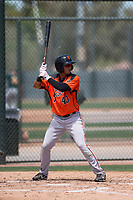 San Francisco Giants Orange outfielder Jose Patino (40) at bat during an Extended Spring Training game against the Oakland Athletics at the Lew Wolff Training Complex on May 29, 2018 in Mesa, Arizona. (Zachary Lucy/Four Seam Images)
