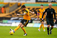 7th February 2021; Molineux Stadium, Wolverhampton, West Midlands, England; English Premier League Football, Wolverhampton Wanderers versus Leicester City; Rubén Neves of Wolverhampton Wanderers passes the ball out to the wing