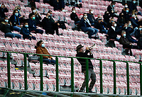 Calcio, Serie A: Inter Milano - AC Milan , Giuseppe Meazza (San Siro) stadium, in Milan, October 17, 2020.<br /> A man plays a trumpet before the Italian Serie A football match between Inter and Milan at Giuseppe Meazza (San Siro) stadium, October 17,  2020.<br /> UPDATE IMAGES PRESS/Isabella Bonotto