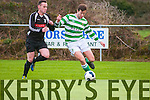 Listowel Celtic V Knockainey AFC : Listowel Celtic's Sheamus Keane and Knockainey's Chris Crotty in action in their last 64 clash in the FAI Junior Cup at Pat Kennedy Park, Listowel on Sunday last.