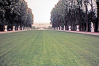 Gardens of Versailles looking towards the Palace.