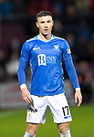 Hearts v St Johnstone…26.01.19…   Tynecastle    SPFL<br />Michael O'Halloran<br />Picture by Graeme Hart. <br />Copyright Perthshire Picture Agency<br />Tel: 01738 623350  Mobile: 07990 594431