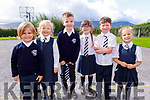 Michael Griffin, Grace Hannah Clifford, Kayden O'Shea, Belle Stack, Eddie O'Sullivan and Millie Lacey enjoying their first day at Spa on Thursday.