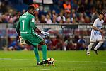"Malaga CF Juan Carlos ""Juankar"" Perez during a match of La Liga Santander at Vicente Calderon Stadium in Madrid. October 29, Spain. 2016. (ALTERPHOTOS/BorjaB.Hojas)"