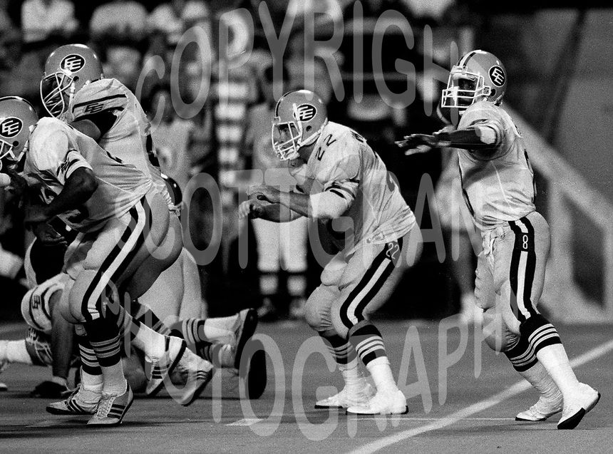 Tracy Ham and Blake Marshall Edmonton Eskimos. Photo copyright Scott Grant.
