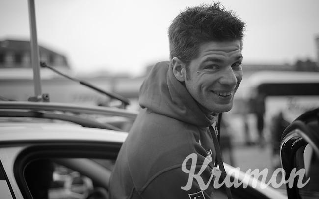 111th Paris-Roubaix 2013..happy chap Jürgen Roelandts the day before the race.