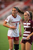 Hawgs Illustrated/BEN GOFF <br /> Tori Cannata (3) of Arkansas in the second half vs Texas A&M Thursday, Sept. 20, 2018, at Razorback Field in Fayetteville.