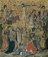 Calvary - attributed to Pablo Vergos, 1475 - 1499