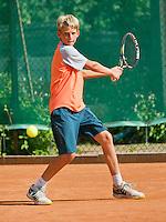 August 4, 2014, Netherlands, Dordrecht, TC Dash 35, Tennis, National Junior Championships, NJK,  Tycho Korporaal (NED)<br /> Photo: Tennisimages/Henk Koster